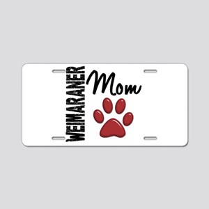 Weimaraner Mom 2 Aluminum License Plate